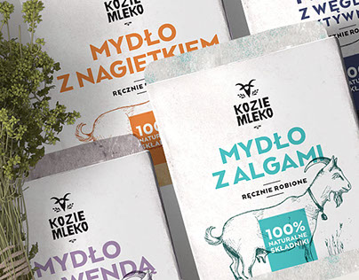 KOZIE MLEKO / GOAT MILK branding and packaging