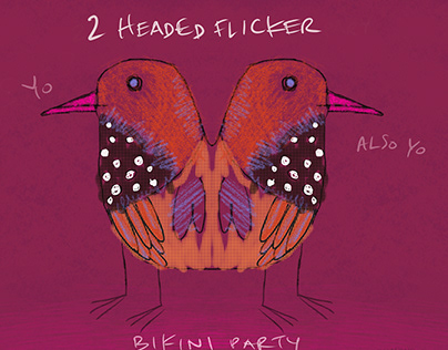 2 Headed Flicker Bikini Party!