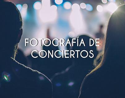 Fotografía de conciertos.