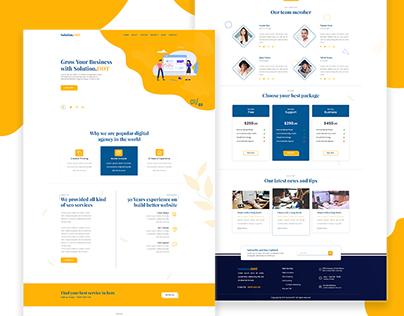 Agency Landing Page UI Design