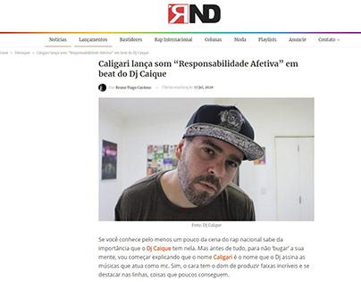 """Caligari lança som """"Responsabilidade Afetiva"""""""
