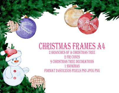 Christmas frames A4