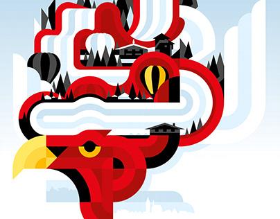 Hahnenkamm Illustration 2020