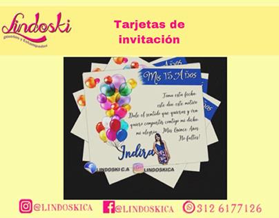 Diseños de tarjetas de invitación y notificación