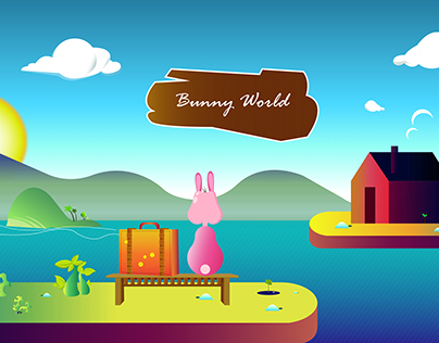 Bunny World Illustration Design