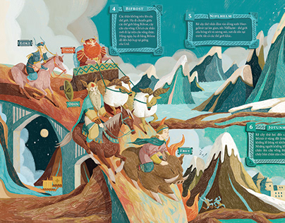 Norse Mythology - Illustration project