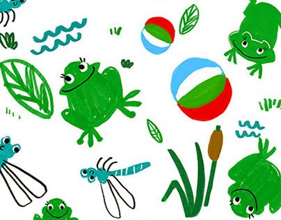 Kids textile print projects