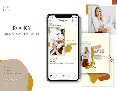 ROCKY Instagram Templates