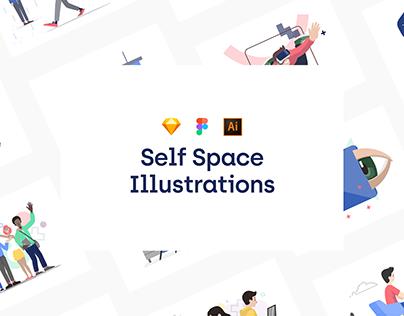 Self Space Illustrations