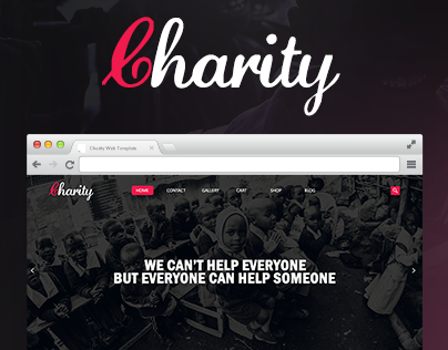 Charity | PSD Template