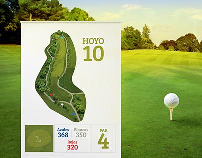 "Letreros ""La Vitoria Golf Club"""