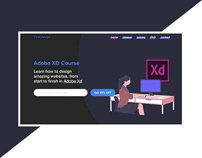 Course Landing Page | Web Design | Illustration | Dark