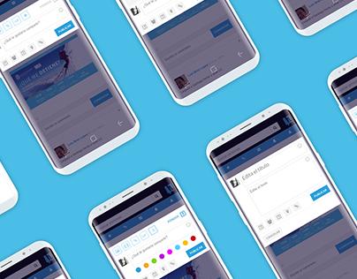 UX UI Study - Post module - Social Network