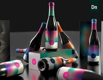 Adobe Dimension - Bottle Compositions - Color Burst