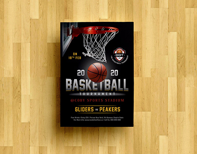 Free Basketball Playoff Flyer Design Template PSD
