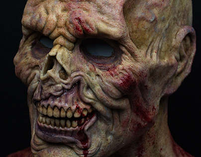 Camillo's silicone mask details (the zombie)