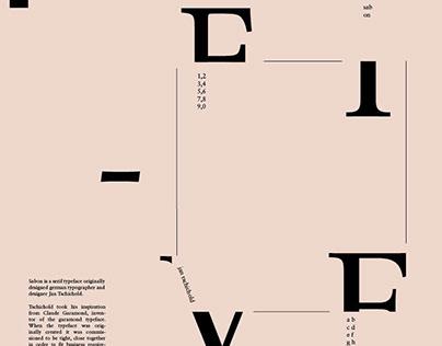 Poster: Sabon Typeface