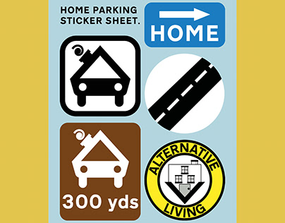 Home Parking Sticker Sheet.