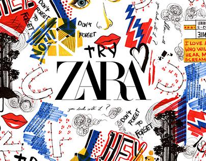 Cartoon Print for ZARA MAN DENIM