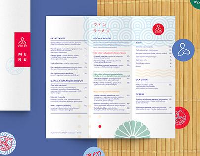 Zen On restaurant branding