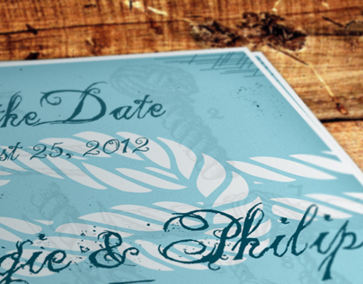 Mark-the-date (Mariner themed save-the-date cards)