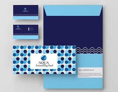 AQUA swimming pool-Logo branding