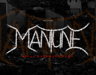 Mantune Death Metal Font