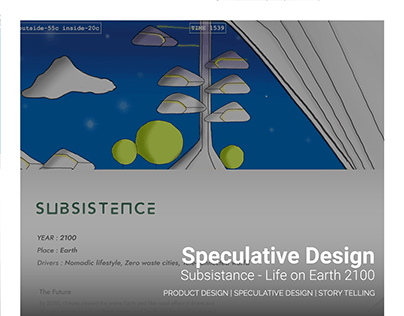 Speculative Design - Subsistance, Earth 2100