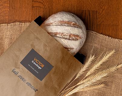 Refonte de logo d'une boulangerie : Victor le Boulanger