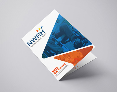 MODERN Bi-Fold Health Support Brochure