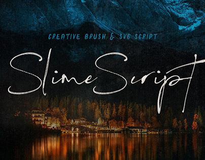 Slime SVG Script Font