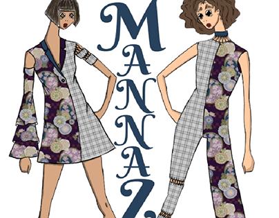 Norse Rune Mannaz Fashion Illustration