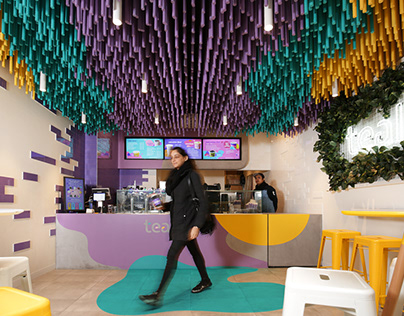 Tealive Bubble Tea Shop / FRETARD Design