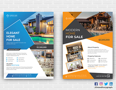 Elegant Real estate Flyer Design Template