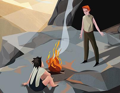Illustrations to the story ASTRID LINDGREN Ronja Rövar