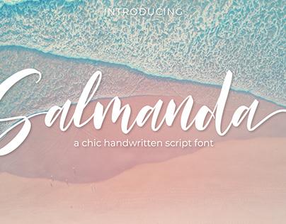 Salmanda a chic handwritten script font