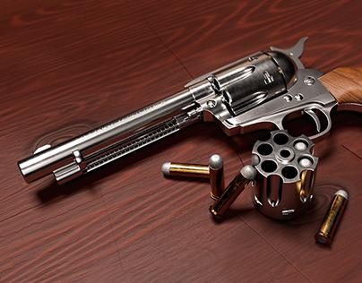 Colt Single Action Army 3D Graphics