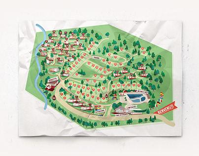 Camping Village La Verna | Campsite Map Illustration