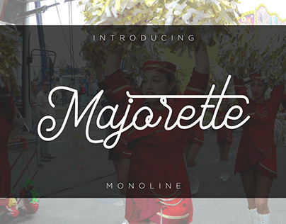 Majorette Font monoline