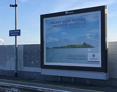 Zurich Dalkey Book Festival outdoor advertising