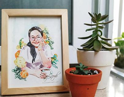 Watercolors Portrait