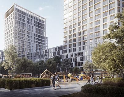 Residential complex in Ukraine - 3D Rendering