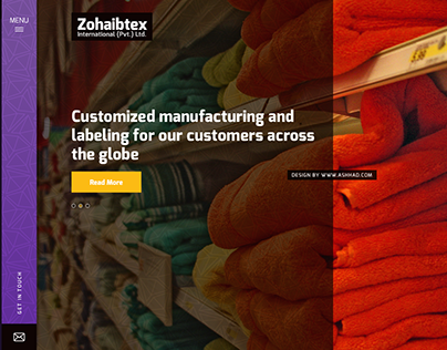 Textile Company Website Design