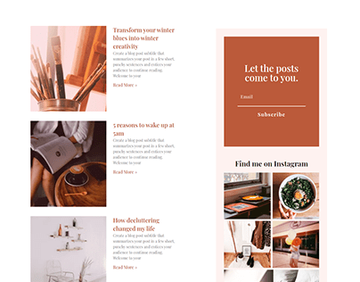 Personal Blog Page Design