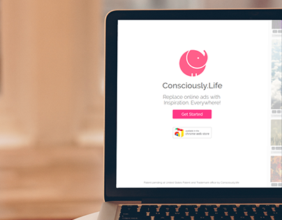 Consciously.life landing page