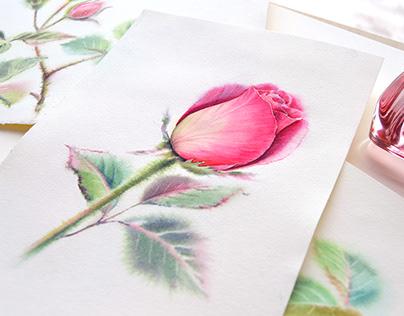 Watercolor Floral Romance