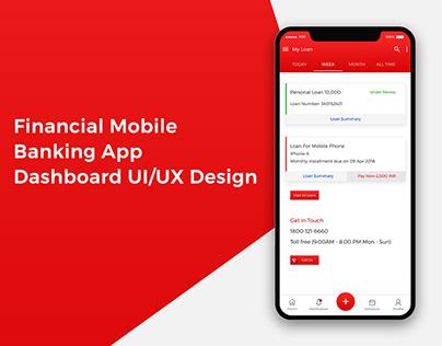 Financial Mobile Banking App - Dashboard UI & UX Design