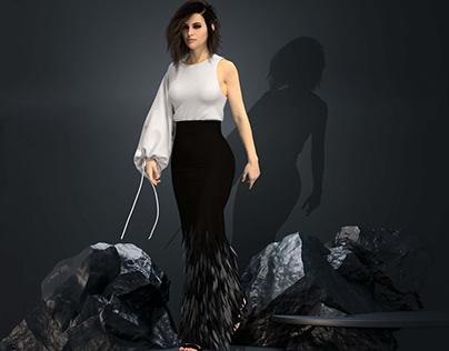 3D Garment Design-Sequin Details
