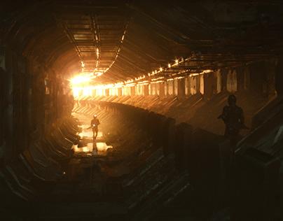 Sci-fi tunnel concept