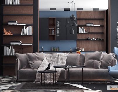 Men's interior by Vitta-group studio